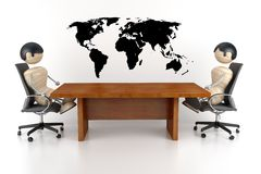 Onderhandelingen royalty-vrije illustratie