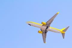 Onderkant van een vliegtuig Royalty-vrije Stock Foto's