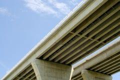 Onderkant van wegbruggen op blauwe hemel stock fotografie