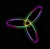 Onderling verbonden ringen van licht Royalty-vrije Stock Foto