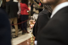 Onderneemster bij restaurant Royalty-vrije Stock Fotografie