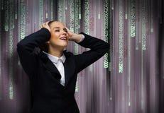 Onderneemster die problemen onder ogen zien Stock Fotografie