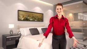 Onderneemster in een Hotel Royalty-vrije Stock Foto