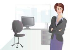 Onderneemster in haar Bureau Stock Fotografie