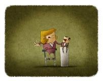 Onderneemster het manipuleren marionet stock illustratie