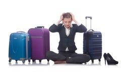 Onderneemster het reizen Stock Foto's