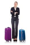Onderneemster het reizen Stock Foto