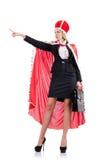 Onderneemster in koninklijk kostuum Royalty-vrije Stock Foto's