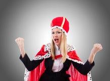 Onderneemster in koninklijk kostuum Stock Afbeelding