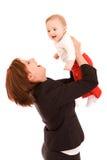 Onderneemster met baby Royalty-vrije Stock Foto's