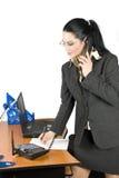 Onderneemster op de telefoon Royalty-vrije Stock Foto