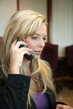 Onderneemster op Telefoon royalty-vrije stock foto