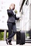 Onderneemster Traveling stock afbeelding