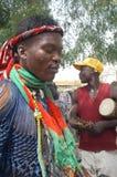 Onderneming van een gebruikelijke leider in Burkina Faso Stock Foto