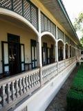 Onderneming van steen gesneden balkons royalty-vrije stock afbeelding