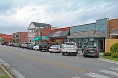 Ondernemingen op Front Street in Beaufort van de binnenstad, Noord-Carolina royalty-vrije stock foto