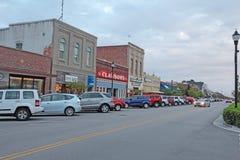 Ondernemingen op Front Street in Beaufort van de binnenstad, Noord-Carolina royalty-vrije stock foto's