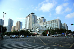 Onderschatte townï ¼  Qingdao Stock Fotografie