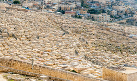 Onderstel van de Joodse Begraafplaats van Olijven Stock Afbeeldingen