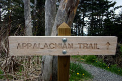 Onderteken Appalachian Trailhead Stock Afbeeldingen