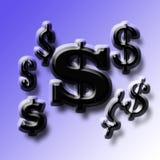Onderteken de dollars van de V.S. Stock Afbeelding