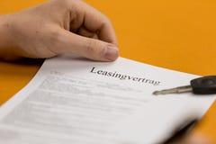 Onderteken een contract 3 Royalty-vrije Stock Afbeelding