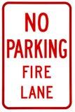 Onderteken Geen parkeren Stock Foto