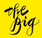 Onderteken Groot, pictogram voor uw Web, etiket, pictogram, minimaal dynamisch ontwerp De beperkte banner van de Aanbiedings Mega stock illustratie