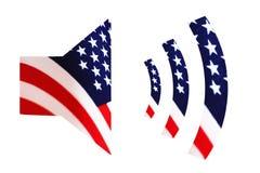 Onderteken het hoorngeluid met de Amerikaanse vlag Royalty-vrije Stock Foto's