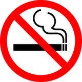 Onderteken Nr - rokend stock illustratie