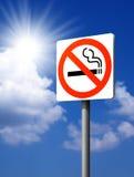Ondertekent Nr - rokend. Royalty-vrije Stock Foto
