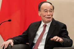 Ondervoorzitter van de Republiek China Wang Qishan stock foto