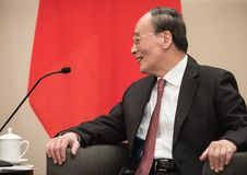 Ondervoorzitter van de Republiek China Wang Qishan stock fotografie