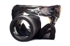 Onderwater doos voor camera Stock Foto's