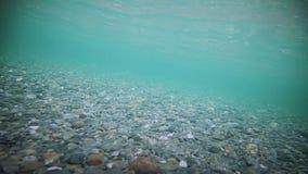 Onderwater Duidelijke Rivierbodem stock video