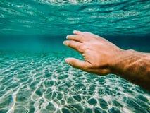 Onderwater duik Stock Foto's