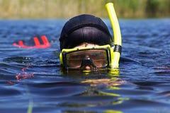 Onderwater duiker Royalty-vrije Stock Fotografie