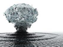 Onderwater explosie Stock Afbeeldingen