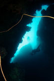 Onderwater hol Royalty-vrije Stock Foto's