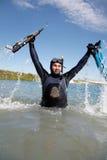 Onderwater jager royalty-vrije stock foto
