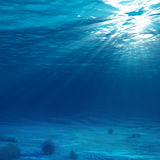 Onderwater Licht Stock Fotografie