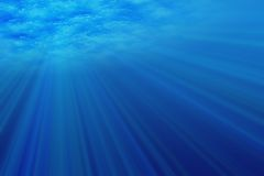 Onderwater licht Stock Afbeelding