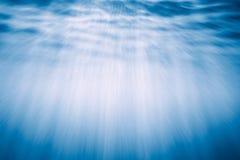 Onderwater Lichte Stralen Stock Fotografie