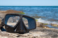 Onderwater masker royalty-vrije stock afbeeldingen