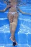 Onderwater Meisje royalty-vrije stock afbeelding