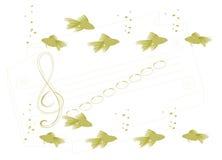 Onderwater muzikale school. vector illustratie