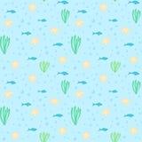Onderwater naadloos patroon stock illustratie