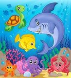 Onderwater oceaanfaunathema 6 Royalty-vrije Stock Afbeeldingen
