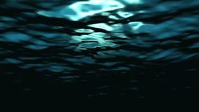 Onderwater oceaangolvenrimpeling en stroom - Water FX0313 HD stock video