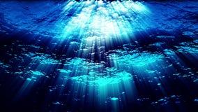 Onderwater oceaangolvenrimpeling en stroom - Water FX0324 HD vector illustratie